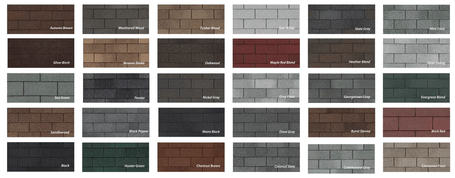 Roof Asphalt traditional color options