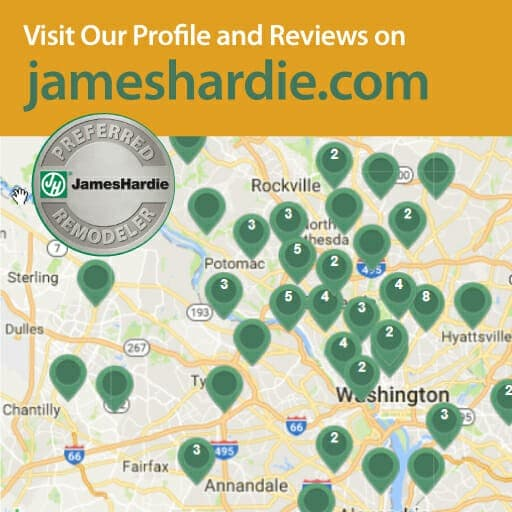 James Hardie Fiber Cement siding installer in Washington D.C., Maryland, and Virginia