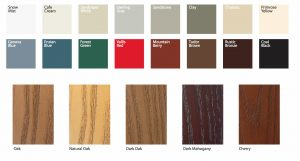 entry and patio door material and color options