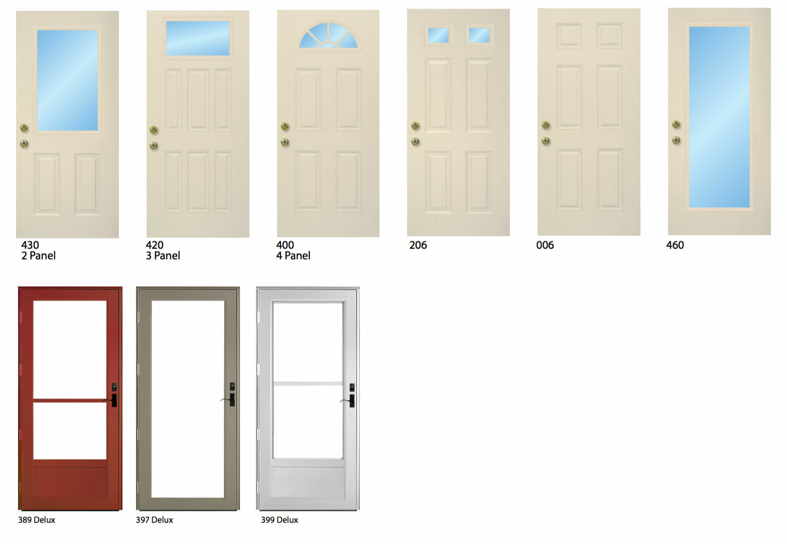 Entry Door glass options