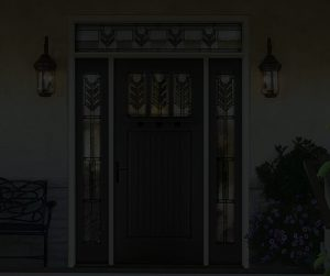 dark door background