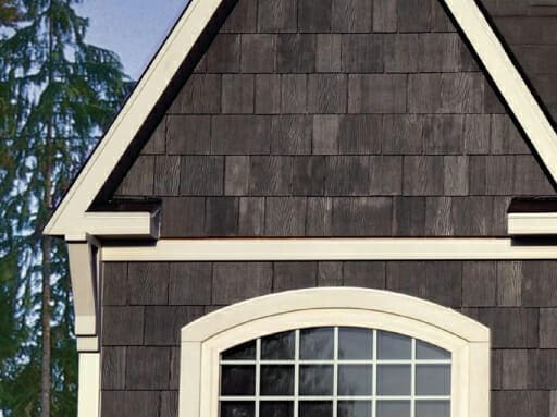 James Hardie shingle siding installation