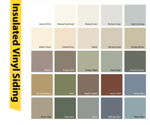 insulated vinyl colors options for you residential home in Maryland, Virginia, and the Washington D.C. area