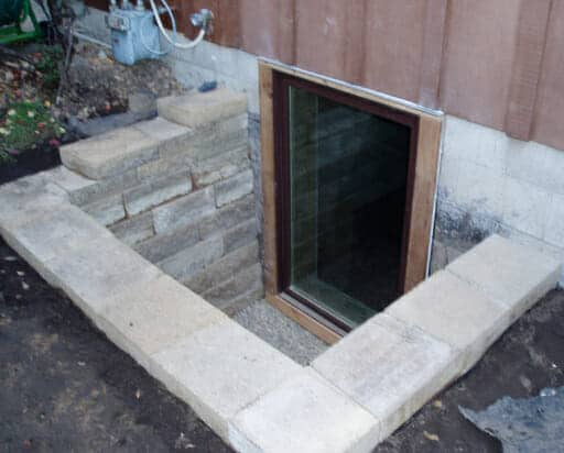 Outside Image of a Basement Egress Window