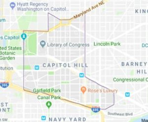 Map of Capitol Hill
